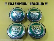 4 Wheel Center Caps Green For Jaguar 58MM Logo cap emblem XJ XJR XJ6 XF X F TYPE