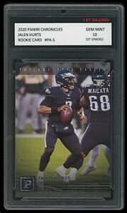 JALEN HURTS 2020 PANINI CHRONICLES FOOTBALL 1ST GRADED 10 ROOKIE CARD RC EAGLES