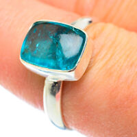 Blue Fluorite 925 Sterling Silver Ring Size 8.5 Ana Co Jewelry R52357F