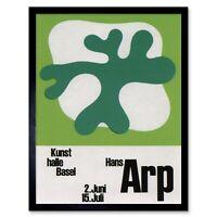 Advert Exhibition Switzerland Cultural Hans Arp Dada Surrealism Framed Art Print