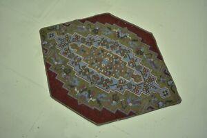 Turkish Small Rug,1.8x2.6ft ,Antique Door Mat,Vintage Old Rug,Outdoor floor Mat,