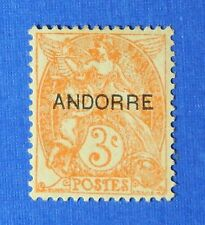 1931 ANDORRA FRENCH 3c SCOTT# 3 MICHEL # 4 UNUSED                        CS26129