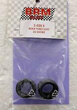Brm S-020-S Medium Soft High Performance Rubber Rear Tires 1/24 Slot Car Part