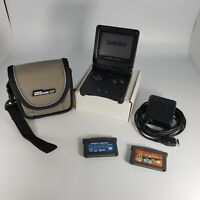 Nintendo Game Boy Advance SP Graphite With Oem Charger, 2 Games, pouch,  AGS-001