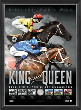 Kingston Town & Winx Triple Cox Plate Champions Official Print Framed + COA