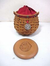 LONGABERGER Let Me Call You Sweetheart Tournament of Roses Covered Basket Signed