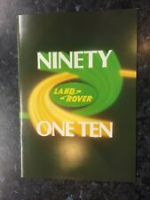 N20217 LAND ROVER 90 & 110
