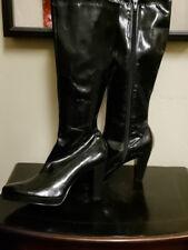 Womens Boots Tall Black Vegan Platform Boots 8