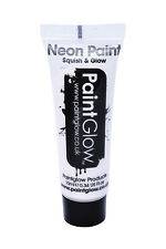 PaintGlow Neon AV Face Body 18 Fluorescent Extra Bright Colour 100 Paint Glow 10ml White