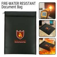 Fireproof Document Pouch Bag Waterproof File Envolope Safe Storage Cash Holder