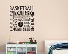 Basketball Collage Subway Words Lettering Vinyl Wall Decal Quote Sports Sticker