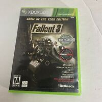 Fallout 3 (Microsoft Xbox 360, 2008) Platinum Hits Game Of The Year Edition