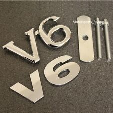 Chrome V6 Grill & badge coffre arrière emblème set autocollant Voiture Van grille arrière tronc v6s