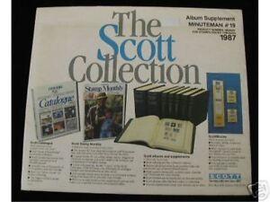 SCOTT MINUTEMAN #19 1987 ALBUM  SUPPLEMENT 180S087 NEW