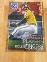 2019 Topps 150 Years Of Baseball Rollie Fingers SP/10 Greatest Players 5x7