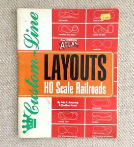 Vintage 1984 Atlas Custom-Line Layouts HO Scale Railroads Booklet