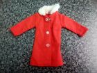 WOOLBRO SUSIE FASHIONS Red dolls coat 5&1/4 inches high with white fluffy collar