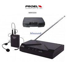 PROEL WM101H UHF RADIOMICROFONO ARCHETTO MINI XLR MICROFONO WM 101 NEW SERIES