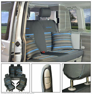 INKA Fully Tailored VW T6.1,T6,T5 California Ocean Takato Front Rear Seat Covers