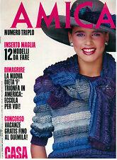 AMICA ANNO XXII N. 15 12 APRILE 1983 ITALIAN FASHION MAGAZINE MODA
