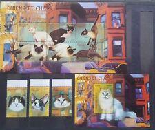Briefmarken Katzen Togo Bl.+KB.+satz,postfrisch