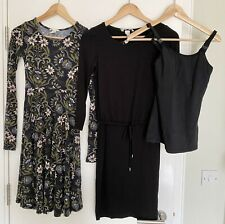 2 H&M MAMA Maternity Dresses Bundle Size XS Plus Bonus Nursing Shirt/vest