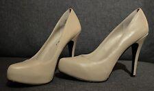 Michael Shannon Nude/Tan Patent Leather Pumps- Aphrodite (Size 8.5)