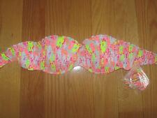 34C Victoria's Secret BANDEAU Swim suit Top Swimwear Push up + STRAPS NEW