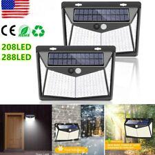 208/288LEDs Solar Lights Motion Sensor Wall Light Outdoor Waterproof Garden Lamp
