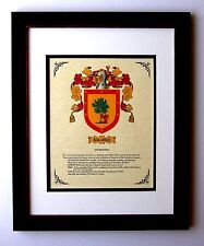 HERALDRY COAT OF ARMS ~ RAMIREZ FAMILY CREST ~ FRAMED
