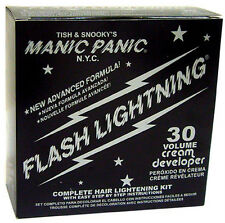MANIC PANIC FLASH LIGHTNING HAIR BLEACH KIT 30 VOLUME w/PRICE MEET/BEAT