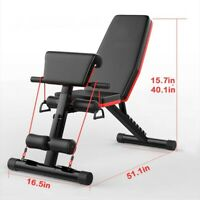 Sit Up AB Incline Abs Bench Adjustable Flat Fly Weight Press Gym Multifunction L