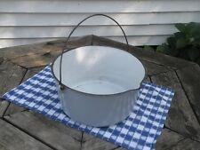 Vintage 12-14 qt Enameled Cast Iron Kettle / Cauldron / Pot - #14 - Heat Ring