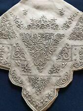 Vtg Appenzell Style Handkerchief Hanky*Irish Linen*NOS* W/Label