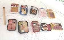 10 barquettes Viande Aliment Factice Maison Poupée Vitrine Doll House Food neuf