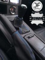 BLUE STITCH LEATHER SHIFT+E BRAKE BOOT SET FOR MAZDA MIATA MX5 EUNOS MK1 89-97