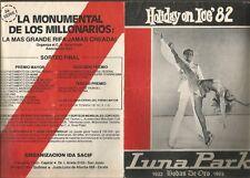 Argentina Programme Luna Park Holiday On Ice Bodas De Oro 1982