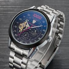 Luxus Herren Edelstahl ArmbandUhr Tourbillon Automatische Mechanische Armbanduhr