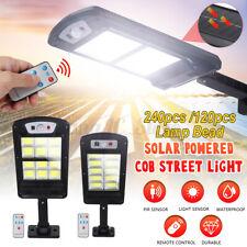 Street Solar 240 COB Light PIR Motion Sensor Wall Lamp Garden Security Remote
