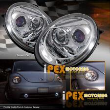 VOLKSWAGEN 1998-2005 VW Beetle Halo Projector Chrome Headlights Driver+Passenger