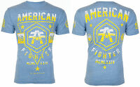 AMERICAN FIGHTER Mens T-Shirt OAKLAND Athletic BLUE Biker Gym MMA $40