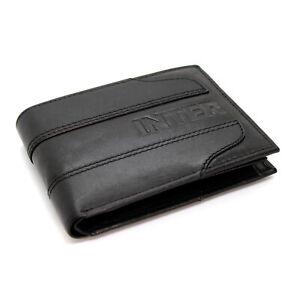 Portafoglio in Vera Pelle uomo FC INTER con portamonete porta carte