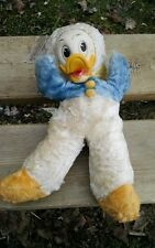 Donald Duck Gund, Antique!  GREEN LABEL!  Awesome Early Disney Plush! Vintage!