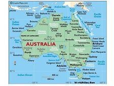 Flexible Fridge Magnet Photo Of AN AUSTRALIA  MAP