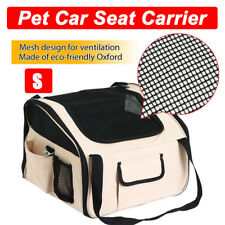 Luxury Car Seat & Carrier Cat Small Dog Pet Puppy Travel Cage Booster - Beige