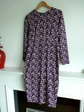 Ladies Lovely M&S Limited Edition Purple Mix Below Knee Party Dress 12, Vgc