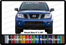 "Nismo OffRoad Front Windshield Banner Decal Fits Nissan Trucks,Cars,SUV 4"" x 40"""