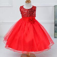 Kinder Mädchen Festkleid Hochzeit Abendkleid Tütü Partykleid Brautjungfer Kleid
