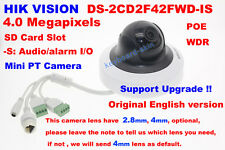 Hikvision Original English DS-2CD2F42FWD-IS 4MP Audio/Alarm PTZ Network Camera