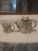 Tea pot creamer set free shipping colorful shiny design